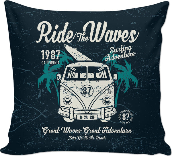 Ride the Waves Couch Pillow
