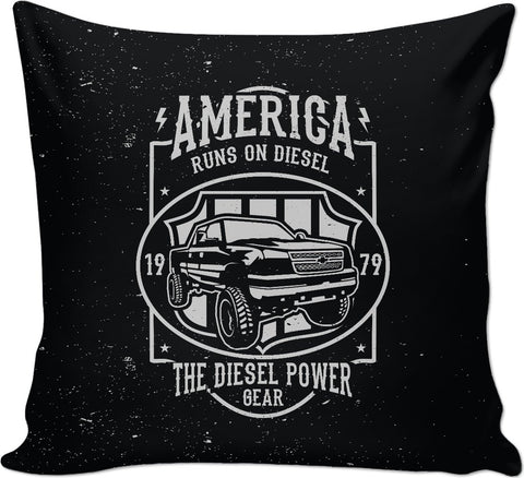America runs on Diesel Couch Pillow