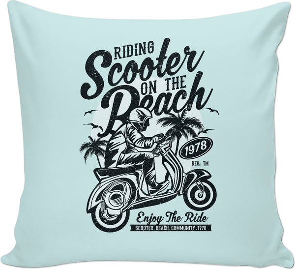Scooter Beach Couch Pillow