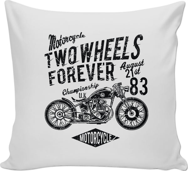 Two Wheels Forever Couch Pillow