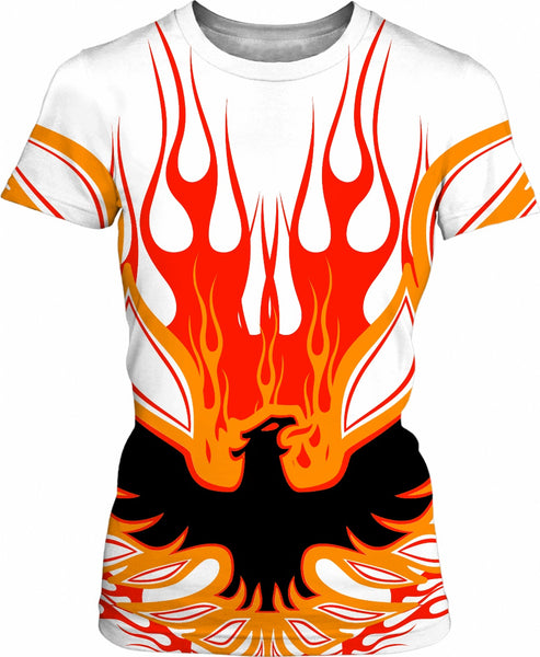 Rise of the Phoenix Womens T Shirt Red