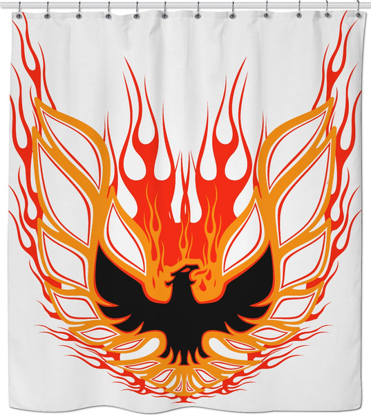 Rise of the Phoenix Red Shower Curtain