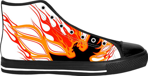 Rise of the Phoenix Red Black High Tops