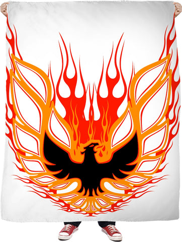 Rise of the Phoenix red Fleece Blanket