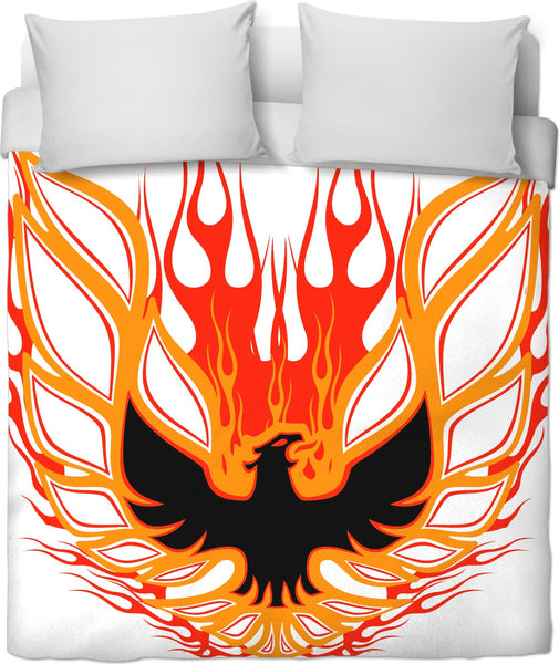 Rise of the Phoenix red Duvet Cover