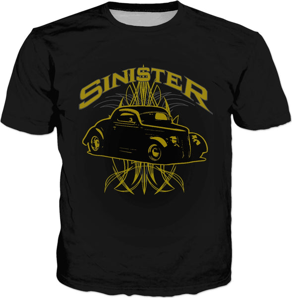 Sinister 40 Hot Rod  Classic T-Shirt Pinstriped
