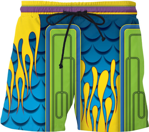 60'S CUSTOM PAINT Custom Swim Shorts