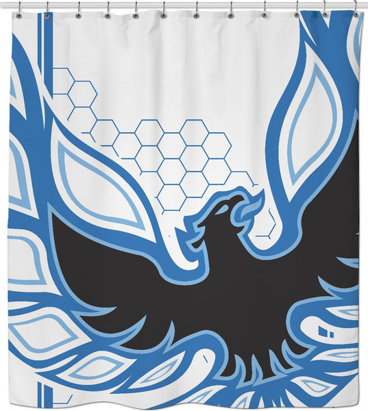 Blue Phoenix Custom Shower Curtain