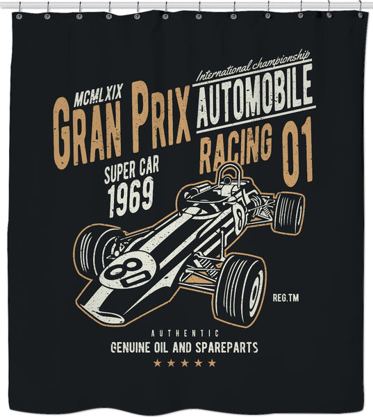 Grand Prix Custom Shower Curtain