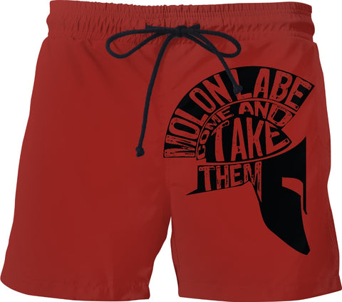 Molon Labe  Custom Swim Shorts