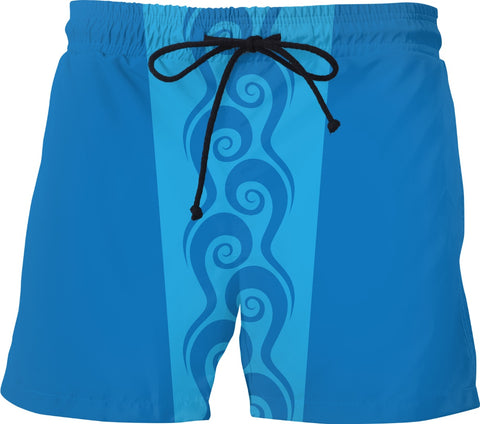 Surfer Waves Custom Swim Shorts