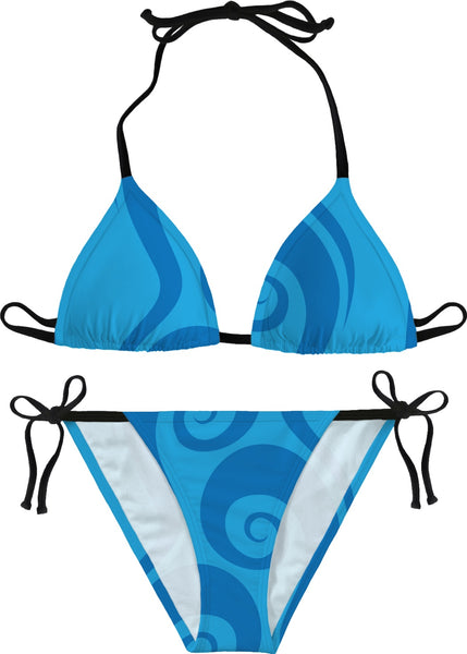Surfer Waves Custom Bikini