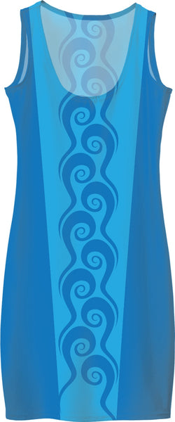 Surfer Waves Custom Simple Dress