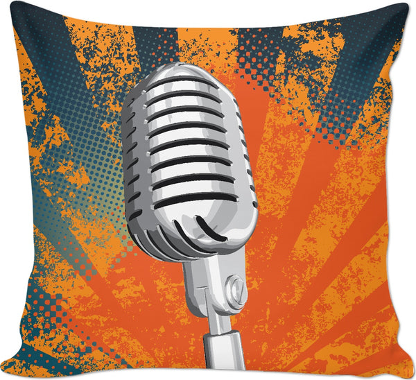 Retro Microphone Custom Couch Pillow