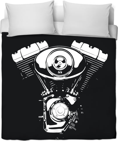 V Motor Custom Duvet Cover