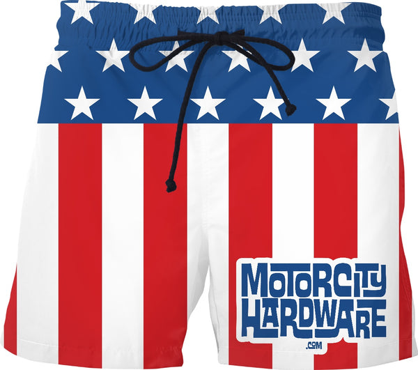 MCH Stars and Stripes Custom Swim Shorts