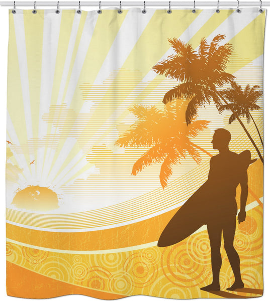Morning Surf Custom Shower Curtain