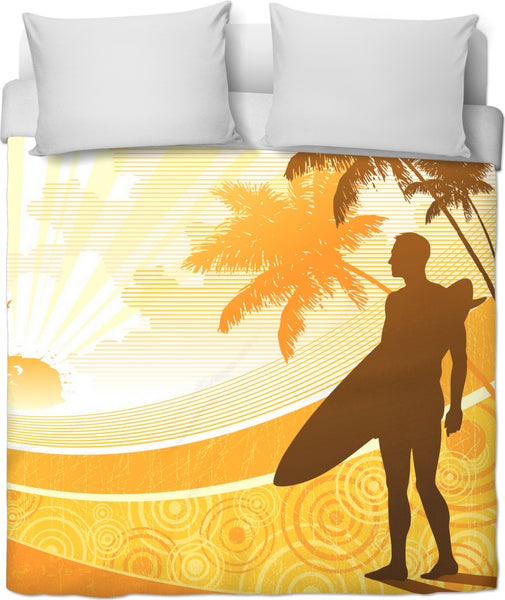 Morning Surf Custom Duvet Cover