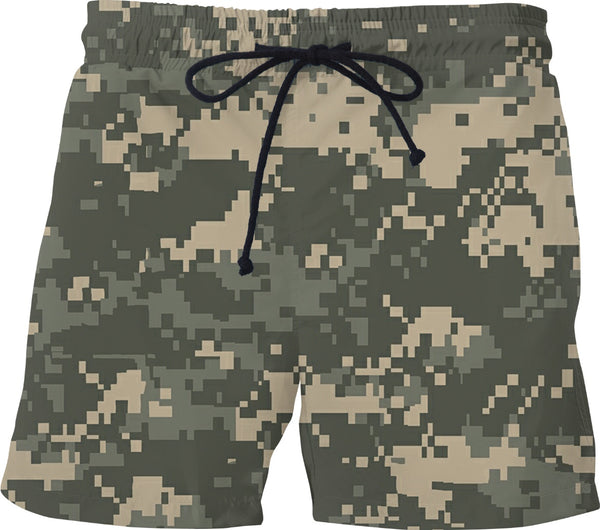 Digital Camo  Custom Swim Shorts