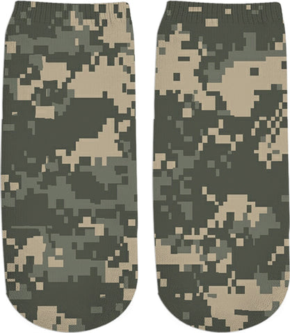 Digital Camo  Custom Ankle Socks