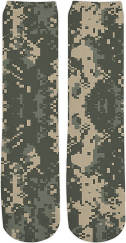 Digital Camo Custom Crew Socks
