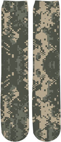 Digital Camo Custom Knee High Socks