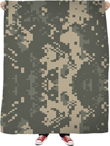 Digital Camo Custom Fleece Blanket
