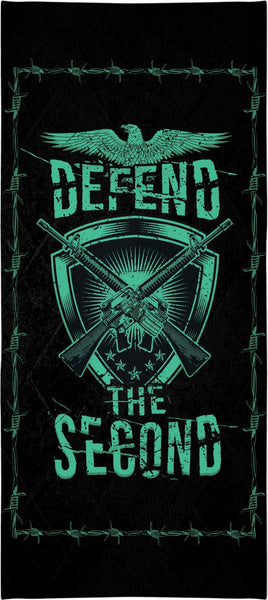 Defend The Second Custom Beach Towel