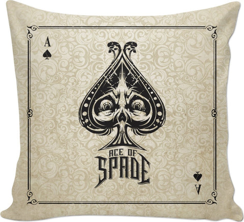 Ace of Spade Custom Couch Pillow