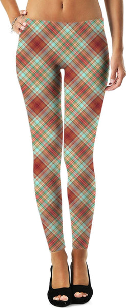70s Plaid Custom Leggings