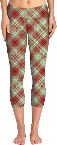 70s Plaid Custom Yoga Pants