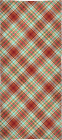 70s Plaid Custom Beach Towel