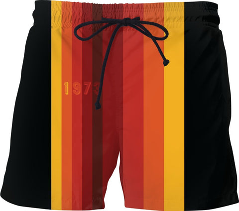 1973 Classic Stripes 2 Custom Swim Shorts