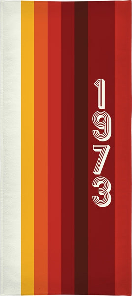 1973 Classic Stripes  Custom Beach Towel