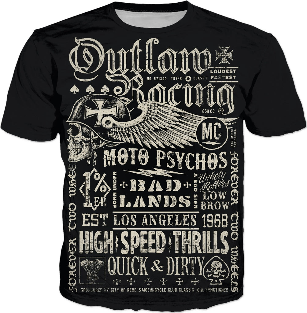 215531d6 Outlaw Racing Custom T-Shirt | Motor City Hardware