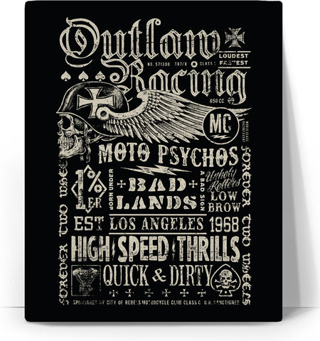 Outlaw Racing Custom Canvas