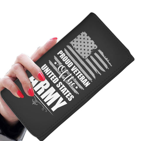 Proud Army Veteran Womens Wallet
