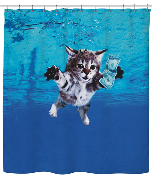 Cat Cobain Shower Curtain