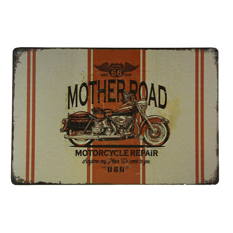 Mother Road Repair Metal Sign