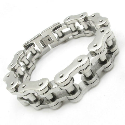 Chrome Motorcycle Chain Bracelet
