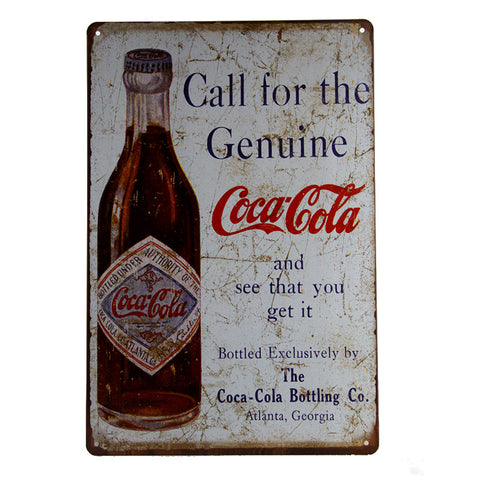Coca Cola Distressed Metal Sign