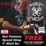 Free Motor City Speed Shop T Shirt