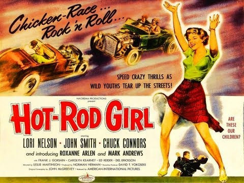 Hot Rod Girl Metal Sign