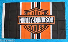 Harley Davidson Racing Stripes Flag