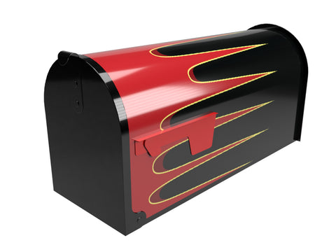 Red Hot Rod Scallops Mailbox