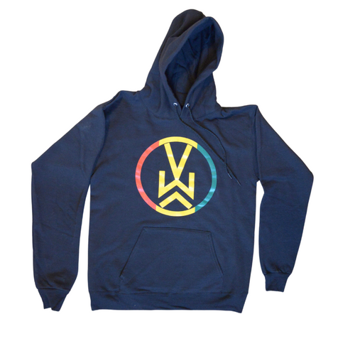 VW Logo Hooded Pullover Sweatshirt