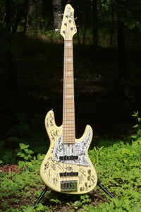 NYC Empire Bass by Fodera from Victor's Personal Collection- SIGNED BY OVER 30 ARTISTS!! ONE OF A KIND!