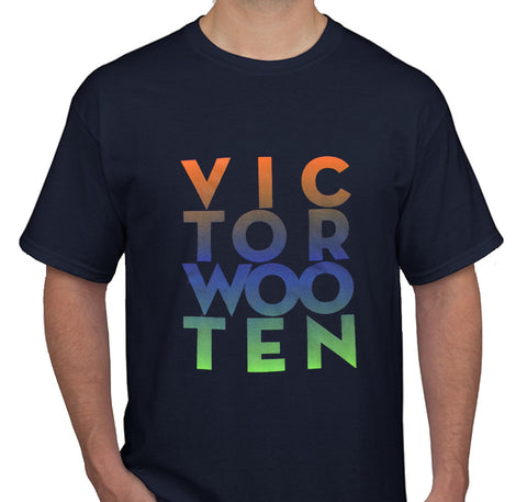 Victor Wooten Navy Stacked Tee