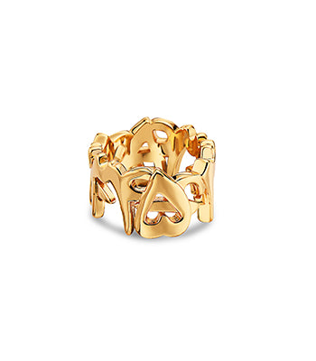 SQ Numbers Ring Gold - NIMANY Studio