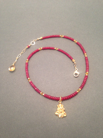 The Ganesh Project - Rubies with Citrine accents (Gold)